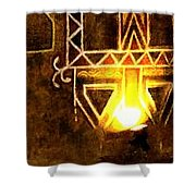 Diwali Lamps And Murals Blue City India Rajasthan Wide 2e Shower Curtain