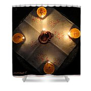 Diwali Lamps Shower Curtain