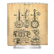 Dixie Banjolele Patent 1954 In Sepia Shower Curtain