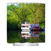 Dixie Belle River Boat Shower Curtain