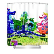Dizzy Dragon Ride 1 Shower Curtain