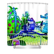 Dizzy Dragon Ride 2   Shower Curtain