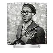 Dizzy Gillespie Vintage Jazz Musician Shower Curtain