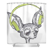 Dj Chihuahua Shower Curtain