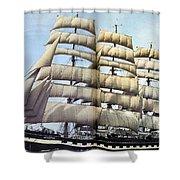 dk tall ships kruzenshtern barque lyr 1926 full D K Spinaker Shower Curtain