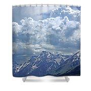 Dm9233 Clouds Over Mt. Moran V Shower Curtain