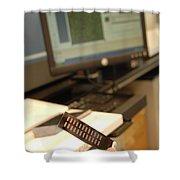 Dna Microarray Shower Curtain