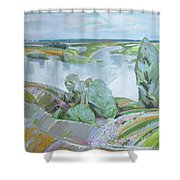Dnepro River Shower Curtain