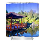 Do-00003 Shinden Style Pavilion Shower Curtain
