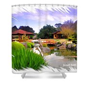 Do-00007 Japanese Gardens Shower Curtain
