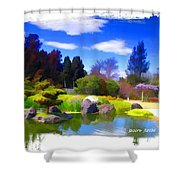 Do-00010 Turtle Island Waterview Shower Curtain