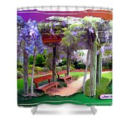 Do-00011 Wisteria Walk Shower Curtain