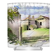 Do-00027 Old Cottage Shower Curtain