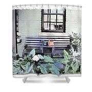 Do-00056 Shop Front In Morpeth Village Shower Curtain