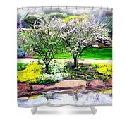 Do-00066 Lake Walk Shower Curtain
