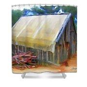 Do-00069 Small Hut Shower Curtain