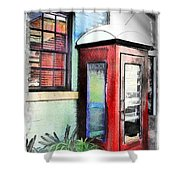 Do-00091 Telephone Booth In Morpeth Shower Curtain