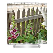 Do-00099 Fence-flowers Shower Curtain