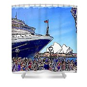 Do-00100 A Ship And Opera House Shower Curtain