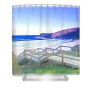 Do-00103 Frasier Beach Shower Curtain