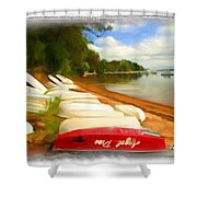 Do-00125 Tender Boats Shower Curtain