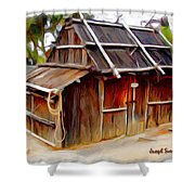Do-00129 Old Cottage Shower Curtain