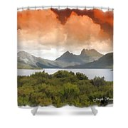 Do-00140 Cradle Mountains Shower Curtain
