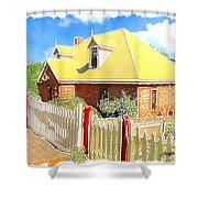 Do-00142 House And Fence Shower Curtain