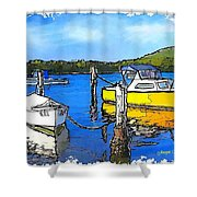 Do-00147 Resting Boats Shower Curtain