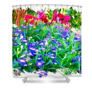 Do-00221 Flowers Shower Curtain