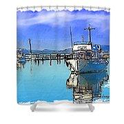 Do-00231 Hvk Boat Gosford Shower Curtain
