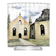 Do-00244 Abandoned Church Shower Curtain