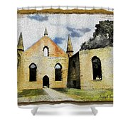 Do-00247 Church At Port Arthur Shower Curtain