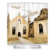 Do-00248 Church At Port Arthur Shower Curtain