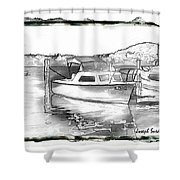 Do-00250 A Boat Shower Curtain