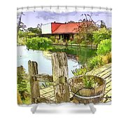 Do-00251 A Farm In Hunter Valley Shower Curtain