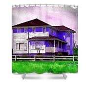 Do-00258 House In Grindelwald Swiss Village Shower Curtain