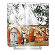 Do-00264 Ghostly Look Of St John Church Shower Curtain