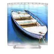 Do-00269 Boat In Killcare Shower Curtain
