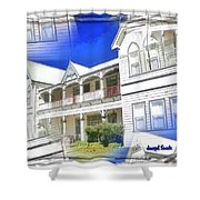 Do-00270 Dreamy Front Of Peppers Convent Shower Curtain