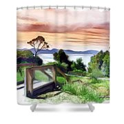 Do-00272 Look Out From Sarah Island Shower Curtain