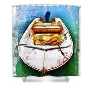 Do-00277 Boat In Hardys Bay Shower Curtain
