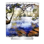 Do-00282 Cockrone Trees Shower Curtain
