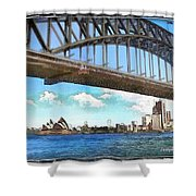Do-00284 Sydney Harbour Bridge And Opera House Shower Curtain