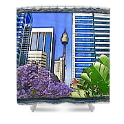 Do-00285 Sydney Centre Tower In Spring Shower Curtain