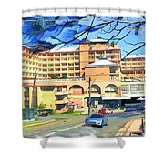 Do-00288 Crowne Plazza From A Hill Shower Curtain
