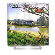 Do-00289 The Clan Lakeside Lake Lodge Shower Curtain