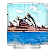 Do-00293 Sydney Opera House Shower Curtain
