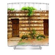 Do-00305 Old Hutt In Anjar Shower Curtain
