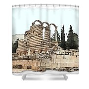 Do-00306 Old Ruins In Anjar Shower Curtain